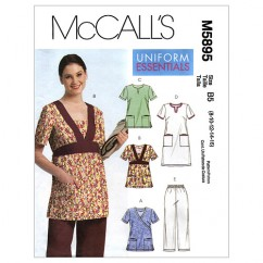 M5895 Misses'/Women's Tops, Dress and Pants (size: 18W-20W-22W-24W)