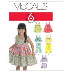 M6017 Toddlers'/Children's Tops, Dresses, Shorts And Pants (size: 4-5-6)