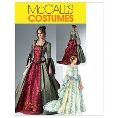 M6097 Misses' Victorian Costume (size: 6-8-10-12)