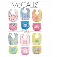 M6108 Infants' Bibs and Diaper Covers (size: All Sizes In One Envelope)