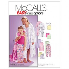 M6225 Children's/Girls' Robe, Belt, Tops, Gown, Shorts and Pants (size: MED-LRG-XLG)