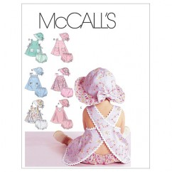 M6303 Infants' Dresses, Panties and Hat (size: All Sizes In One Envelope)