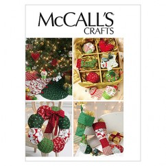 M6453 Ornaments, Wreath, Tree Skirt and Stocking (size: One Size Only)