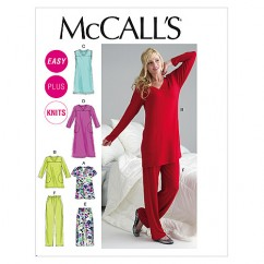 M6474 Misses'/Women's Top, Tunic, Gowns and Pants (size: 8-10-12-14-16)