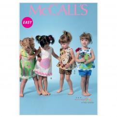 M6541 Infants' Top, Dress, Shorts and Appliqués (size: All Sizes In One Envelope)