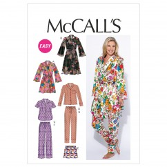 M6659 Misses' Robe, Belt, Tops, Shorts and Pants (size: 16-18-20-22-24)
