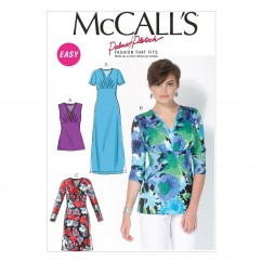 M7092 Misses' Tops and Dresses (size: 8-10-12-14-16)