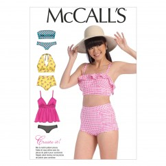 M7168 Misses' Swimsuits (Size: 6-8-10-12-14)