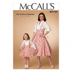 M7184 Misses'/Children's/Girls' Top and Jumper (Size: 3-4 5-6 7-8)