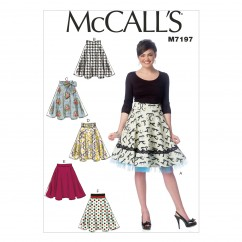 M7197 Misses' Skirts (Size: 6-8-10-12-14)