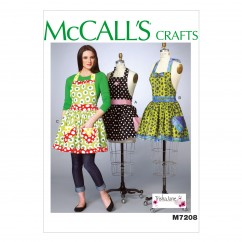 M7208 Misses' Aprons and Petticoat (Size: XSM-SML-MED-LRG-XLG)