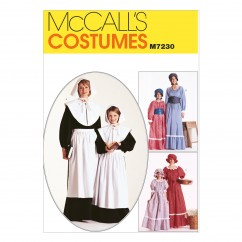 M7230 Misses' and Girls' Costumes (Size: Girls' 7-8)