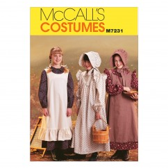 M7231 Girls' Pioneer Costumes (Size: 7-8)