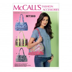 M7369 Banded Handbags in Four Styles (size: One Size Only)