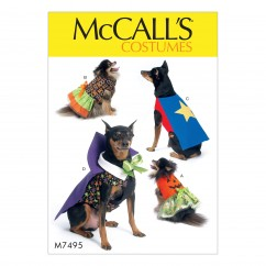 M7495 Pumpkin, Hero, Vampire and Dress Pet Costumes (size: All Sizes in One Envelope)
