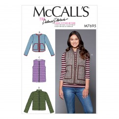 M7695 Misses' Puffer Vests and Jackets (size: 14-16-18-20-22)