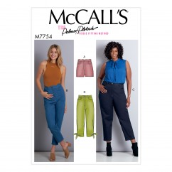 M7754 Misses'/Women's Shorts and Pants (size: 8-10-12-14-16-18W-20W-22W-24W)
