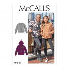 M7841 Misses' and Mens Tops (size: S-M-L)