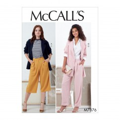 M7876 Misses' Jackets and Pants (size: 14-16-18-20-22)