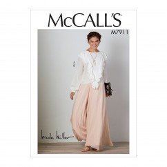 M7911 Misses' Top and Pants (size: 14-16-18-20-22)