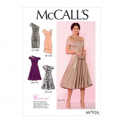 M7926 Misses' and Women's Special Occasion Dresses (size: 18W-20W-22W-24W)