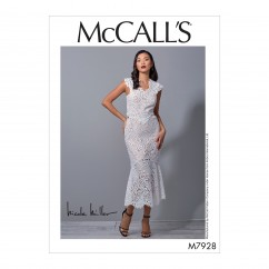 M7928 Misses' Special Occasion Dress (size: 12-14-16-18-20)