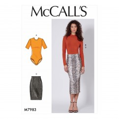 M7983 Misses' Tops and Skirts (size: 14-16-18-20-22)