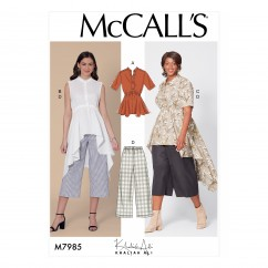 M7985 Misses' and Women's Top, Tunics, and Pants (size: 18W-20W-22W-24W)