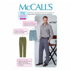 M7987 Men's Shorts and Pants (size: 30-32-34-36)