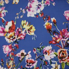 Lili Rayon coordinate - Tulips and Roses - Cobalt