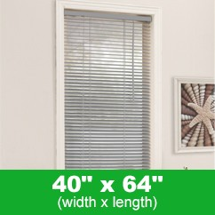 Mirage PVC Mini Blind - Grey - 40 x 64 inch