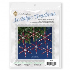 Beaded Ornament Kit - Crystal/Ruby Snowflakes