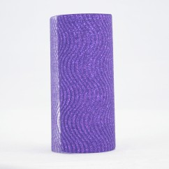 "Waves Glitter Tulle Spool 6"" - Purple"
