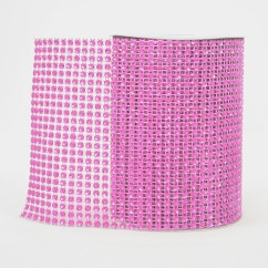 Row Bling Ribbon Hot Pink