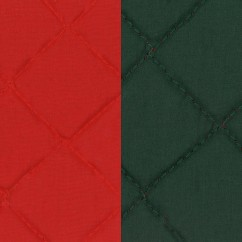 Quilted Back to Back Broadcloth - Hunter  Red