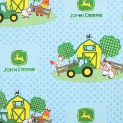 JOHN DEERE Cotton Print - Farms - Blue
