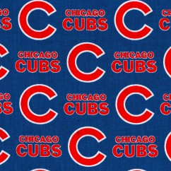 Chicago CUBS - Baseball Printed Cotton - Blue