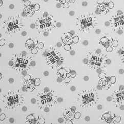 Licensed Cotton Print - Disney Mickey Mouse - Grey