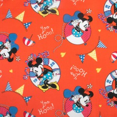 Licensed Cotton Print - Disney Minnie Mouse - Red