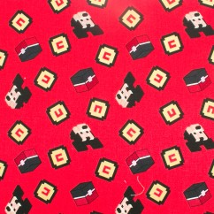 Licensed Cotton Print - Disney Mickey Mouse - Red