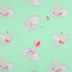 Camelot - PRIVILÈGE - Licensed Cotton Print - Dumbo - Green