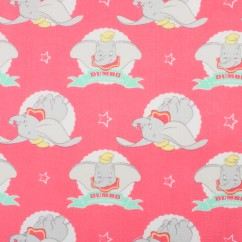 Camelot - PRIVILÈGE - Licensed Cotton Print - Dumbo - Pink