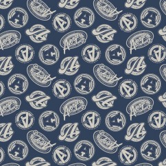 Camelot - PRIVILÈGE - Licensed Cotton Print - Avengers logo - Blue