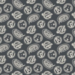 Camelot - PRIVILÈGE - Licensed Cotton Print - Avengers logo - Grey