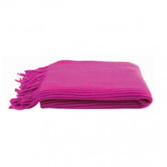 "KAS - RIBA ACRYLIC THROW - 52 x 66"" - MAGENTA"