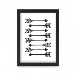 Photo Frame Arrow  - Black - 5 x 7''