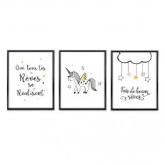 Set of 3 Frames - White  - 8 x 10''
