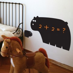 Adhesive Blackboard wall decals - Daddy Bear & Son