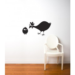 Adhesive Blackboard wall decals - Hen