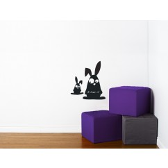 Adhesive Blackboard wall decals - Rabbits